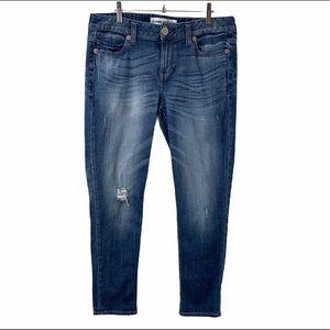 Express Modern Boyfriend Low Rise Distressed Jeans